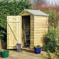 4ft x 3ft Rowlinson Oxford Wooden Garden Storage Shed (1.3m x 0.94m)