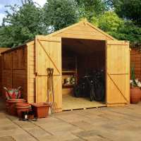 10ft x 6ft Windsor Overlap Reverse Apex Wooden Garden Shed (3.14m x 1.92m)