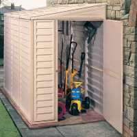 4ft x 8ft Duramax SideMate Plastic Shed (1.21m x 2.39m)