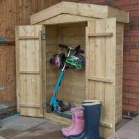 3ft7 x 1ft8 Forest Wooden Shiplap Apex Midi Wooden Garden Storage - Outdoor Patio Storage (1.1m x 0.51m)