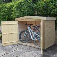 6ft6 x 2ft7 Forest Shiplap Large Double Door Apex Garden Storage - Outdoor Bike / Mower Store (1.9m x 0.81m)