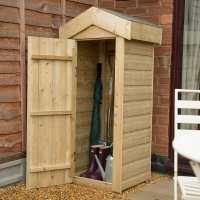 2ft x 1ft8 Forest Shiplap Apex Midi Slim Wooden Garden Storage - Outdoor Patio Storage (0.65m x 0.5m)