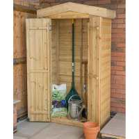 Forest Shiplap Tall Apex Wooden Garden Storage Tool Store- Outdoor Patio Storage