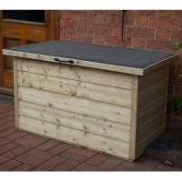 Forest Shiplap Wooden Garden Storage Chest  - Outdoor Patio Storage Box