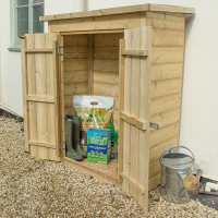 3ft6 x 2ft Forest Shiplap Pent  Midi Wooden Garden Storage - Outdoor Patio Storage (1m x 0.55m)