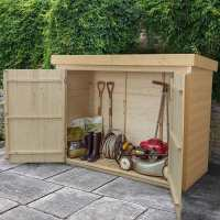 6ft5 x 2ft10 Forest Shiplap Large Double Door Pent Wooden Garden Storage - Outdoor Bike / Mower Store (1.9m x 0.86m)