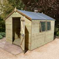 10ft x 6ft Shed-Plus Champion Heavy Duty Shed with Logstore - Single Door (3.02m x 1.82m)