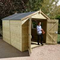 14ft x 8ft Shed-Plus Champion Heavy Duty Workshop / Log Store - Double Door (4.24m x 2.44m)