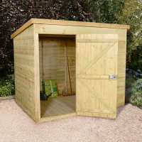 7ft x 5ft Shed-Plus Champion Heavy Duty Pent Shed - Single Door on Left (2.21m x 1.6m)