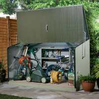 6ft5 x 2ft11 (1.96x0.89m) Trimetals Green Storeguard Metal Garden Storage Unit