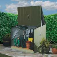 4ft6 x 2ft11 (1.38x0.89m) Trimetals Green Stowaway Garden Metal Storage Unit