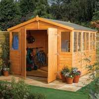 9ft x 9ft Rowlinson Wooden Garden Workshop/ Shed Range (2.89m x 2.89m)