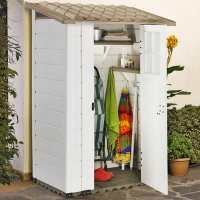 4ft x 2ft6 Shire Tuscany Evo 100 Plastic Garden Storage Shed (1.22m x 0.82m)