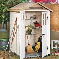 4ft x 4ft Shire Tuscany Evo 120 Plastic Garden Storage Shed (1.22m x 1.22m)