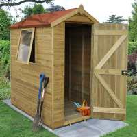 6ft x 4ft Forest Tongue and Groove Pressure Treated Wooden Shed (1.87m x 1.31m)