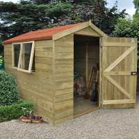 8ft x 6ft Forest Tongue & Groove Apex Pressure Treated Wooden Shed (2.48m x 2.06m)