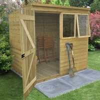 7ft x 5ft Forest Tongue & Groove Pent Shed Pressure Treated (2.09m x 1.63m)
