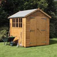 10ft x 6ft Traditional Heavy Duty Apex Wooden Garden Shed (3.05m x 1.83m)