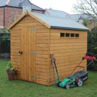 12ft x 8ft Traditional Apex Security Wooden Garden Shed (3.66m x 2.44m)