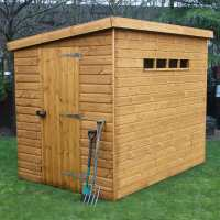12ft x 8ft Traditional Pent Security Wooden Garden Shed (3.66m x 2.44m)