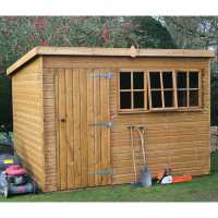 14ft x 8ft Traditional Heavy Duty Pent Wooden Garden Shed (4.28m x 2.44m)