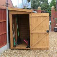5ft x 3ft Traditional Pent Wooden Lean To Shed (1.52m x 0.91m)