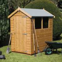 6ft x 4ft Traditional Tongue and Groove Apex Wooden Shed (1.83m x 1.22m)
