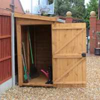7ft x 4ft Traditional Pent Wooden Garden Tool Storage Shed (2.14m x 1.22m)