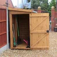 8ft x 4ft Traditional Tongue and Groove Wooden Pent Tool Store Shed (2.44m x 1.22m)
