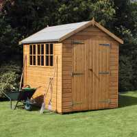 8ft x 6ft Traditional Heavy Duty Apex Wooden Garden Shed (2.44m x 1.83m)
