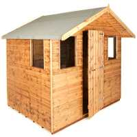 8ft x 6ft Traditional 6ft Cabin Garden Shed (2.44m x 1.83m)