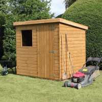 6ft x 8ft Traditional Standard Pent Wooden Garden Shed (1.83m x 2.44m)