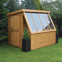 8ft x 6ft Traditional Wooden Potting Garden Shed with 6ft Gable (2.43m x 1.83m)
