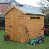 8ft x 6ft Traditional Apex Security Wooden Garden Shed (2.44m x 1.83m)