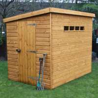8ft x 6ft Traditional Pent Security Wooden Garden Shed (2.44m x 1.83m)