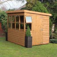 8ft x 8ft Traditional Sun Pent 8ft Gable Wooden Garden Shed (2.43m x 2.43m)