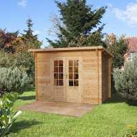 3x2m (10ftx7ft) Forest Provence (Harwood) 28mm Log Cabin Shed