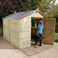 14ft x 10ft Shed-Plus Champion Heavy Duty Workshop / Log Store - Single Door (4.2m x 3.96m)