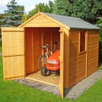 7ft10 x 5ft10 Shire Apex Warwick Double Door Wooden Garden Shed (2.38m x 1.79m)