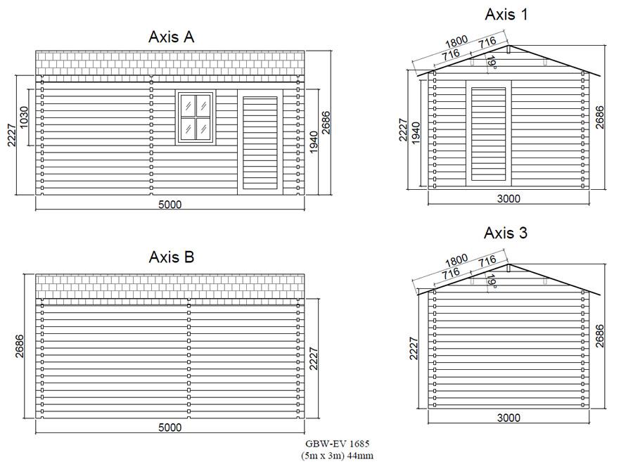 Wall elevation drawings