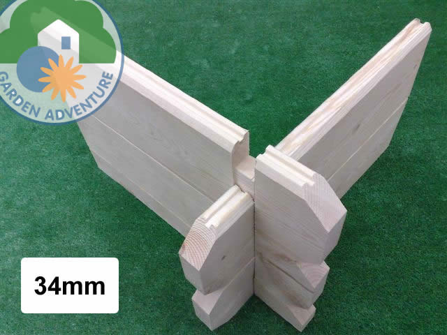 34mm Wall Logs