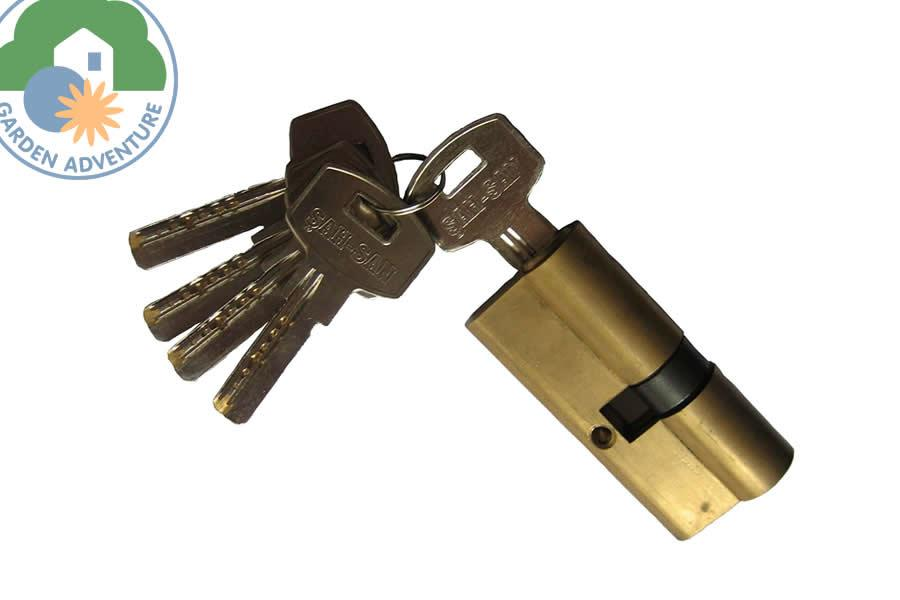 Cylinder Lock with three Keys