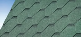 Hexham Green Felt Shingles