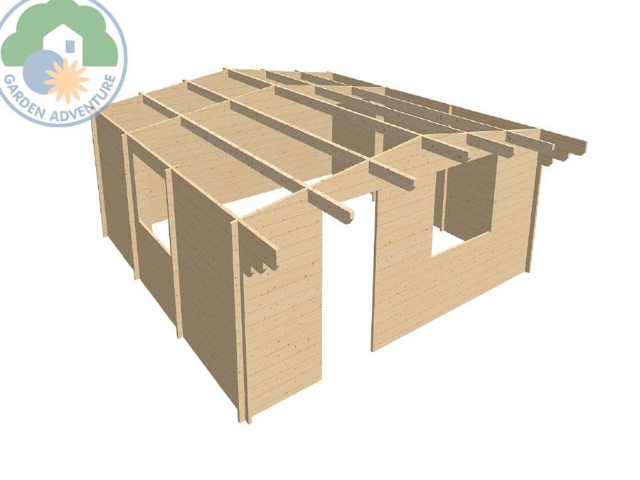 Devon 6x6 Log Cabin 3d