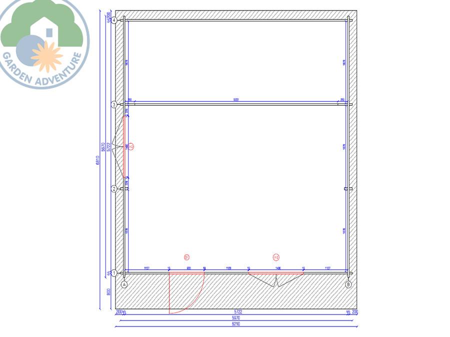 Devon 6x6 Log Cabin Plan