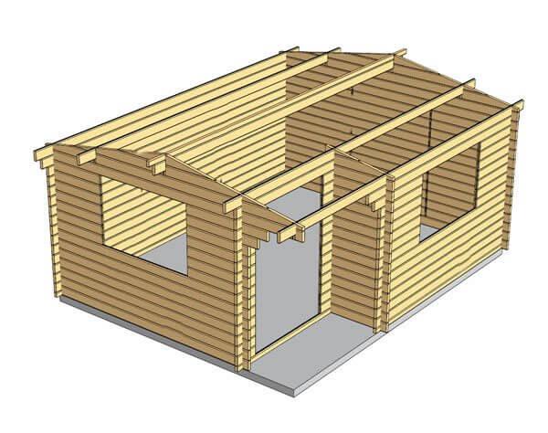 Alpina 5x4 Log Cabin