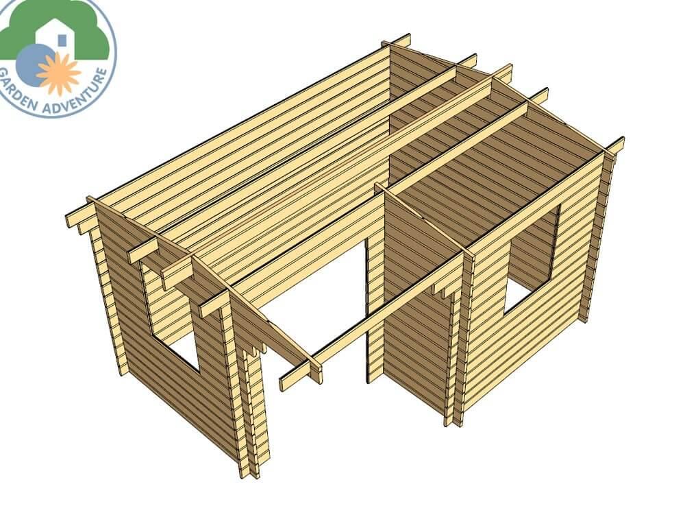 Alpina 4x3 Log Cabin