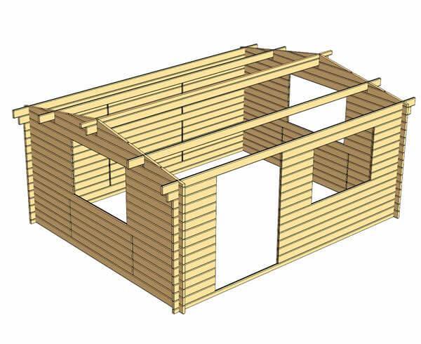 Rumus 5x4 Log Cabin