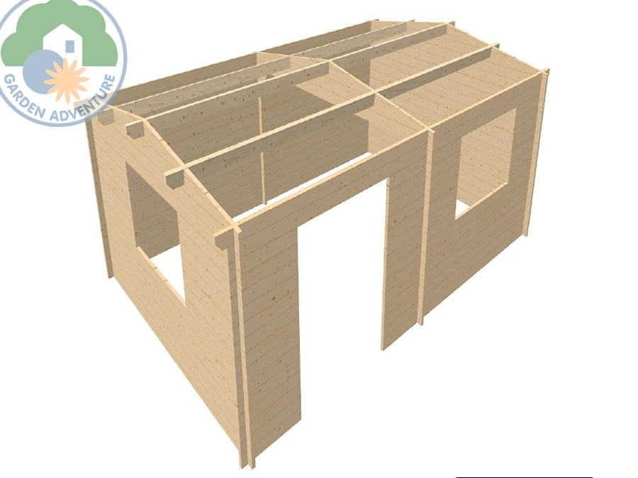 Rumak 6x4 Log Cabin 3d