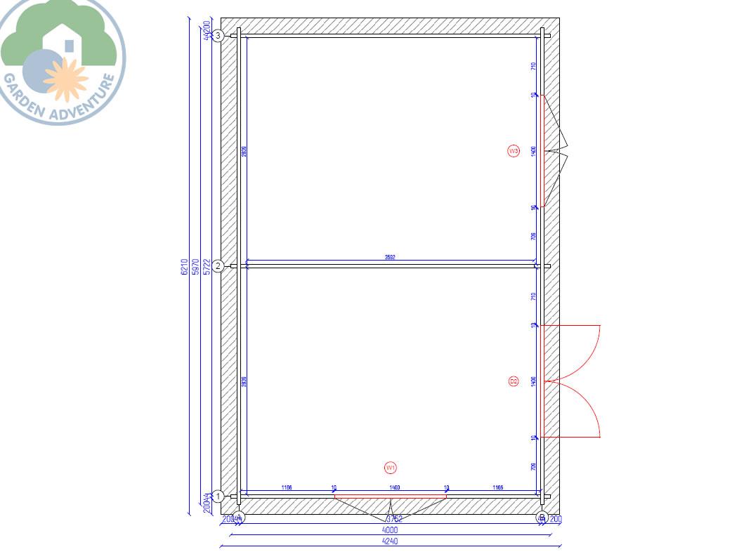 Rumak 6x4 Log Cabin Plan